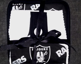 Dish Towel & Pot Holder Set - Raiders