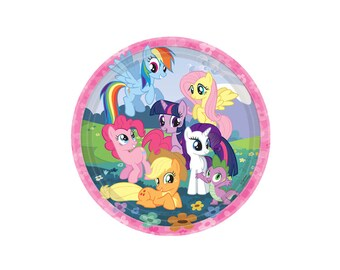 My Little Pony Paper Plates - 9 Inch, Party Supplies, Tableware