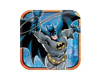 Batman Paper Plates - 9 inch, Super Hero, Tableware, Party Supplies