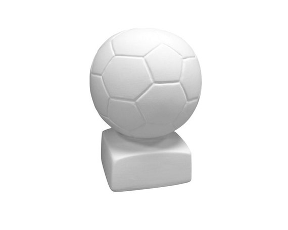 Soccer ball piggy bank ceramic bisque paintable pottery for Bisque ceramic craft stores