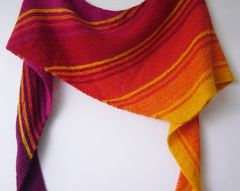 gradient set and pattern for sunrise shawl
