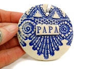 Papa Ornament, Father's Day Gift, Grandfather Gift, Gift for Papa, Papa Birthday, Grandparent Gift, Papa Christmas, Ceramic Ornament
