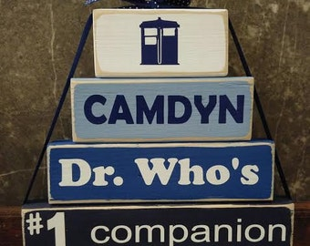 Dr. Who...wooden stacking blocks
