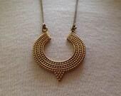 Brass necklace pendant, Long chain necklace, Unique pendant, special design, boho necklace, hipster neclace, hipster jewelry, boho jewelry