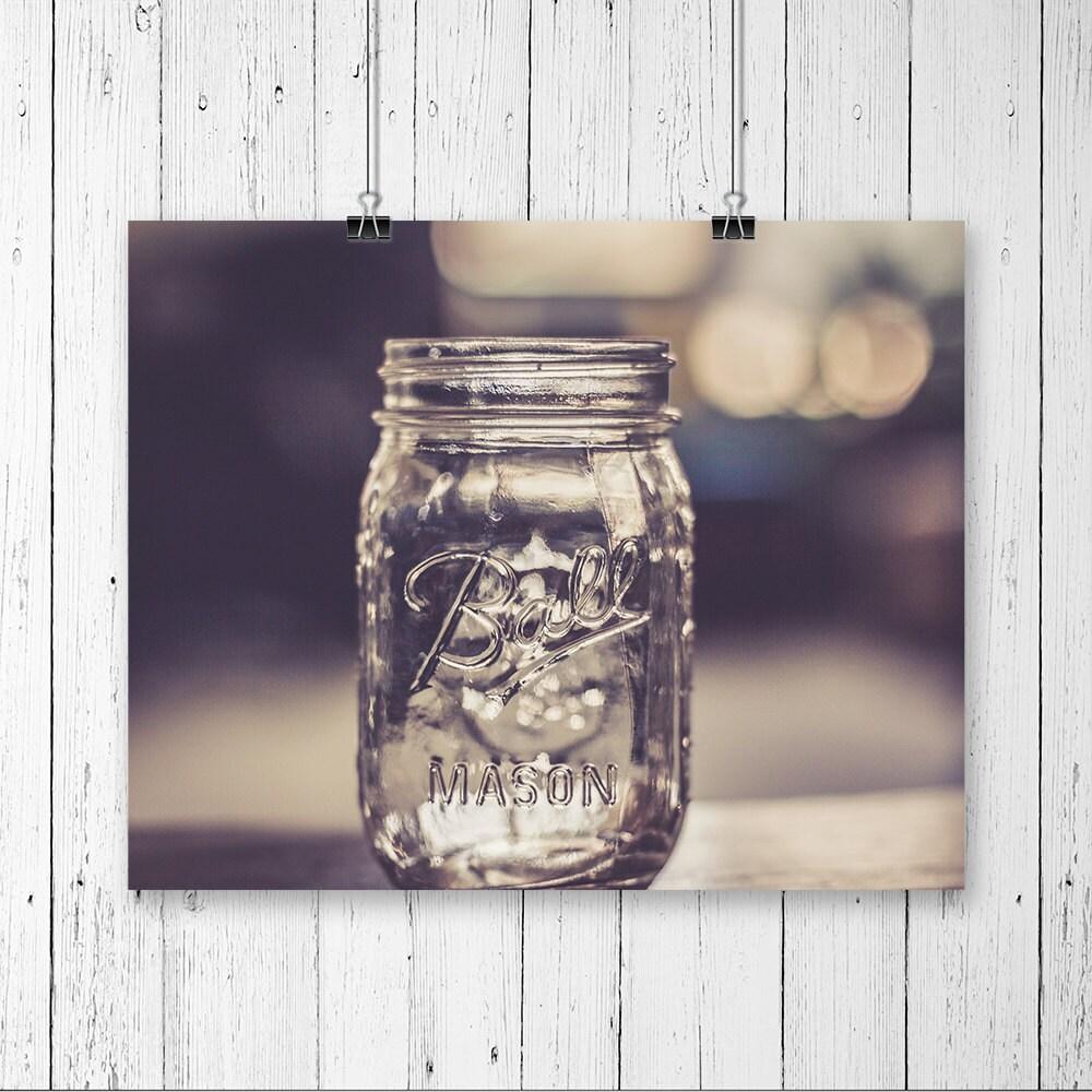 Mason jar decor kitchen wall art canning jar vintage prints for Kitchen jar decoration