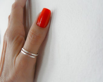 Simple Thumb Ring//Sterling Silver Thumb Ring//Minimalist Ring// Thumb Ring// Hammered Ring Handmade Jewelry For Women