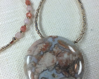 Mexican Fire Opal Stone Pendant