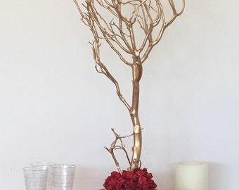 Gold Manzanita, Centerpiece Manzanita,  Manzanita gift, Gold Manzanita tree, Manzanita tree in planter, festive Manzanita centerpiece