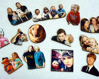 Personalized laser wood cut outs- family and friend photos-Unique gift