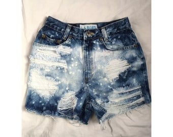 Bleached and Distressed Shorts