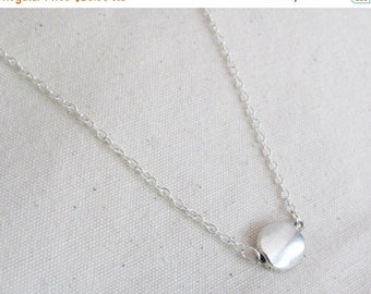 WINTER SALE Silver Coin Necklace - Everyday Necklace - Coin Necklace -  Dainty Necklace - Simple Necklace - Charm Necklace - Gift Necklace