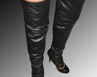 100% Genuine Leather Leg Warmers are the latest trend as seen on runways.