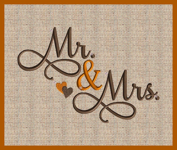Mr And Mrs Embroidery Design Mr And Mrs Wedding Embroidery