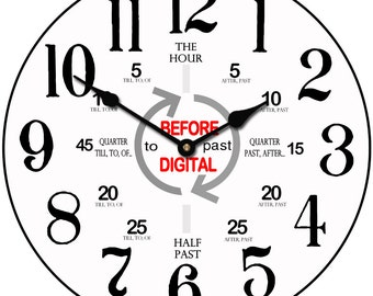 Before Digital Wall Clock