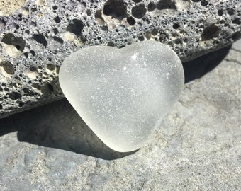 Heart Shaped, Genuine, Seaglass, Beach Glass