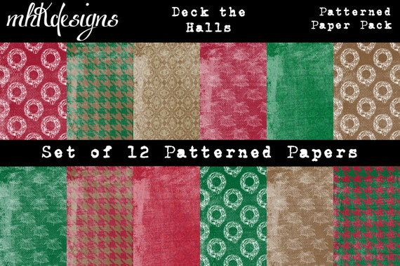 Deck the Halls Digital Paper Pack
