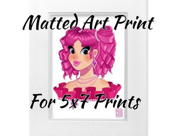 Matted Art Print Option
