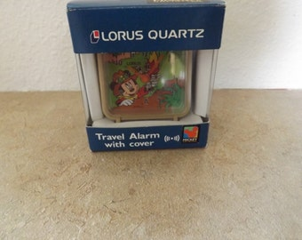 Lorus Quartz Safari Mickey Mouse Travel Alarm Clock