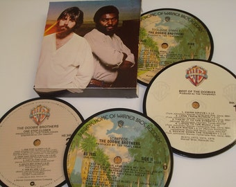 The DOOBIE BROTHERS coasters, vinyl record coaster set