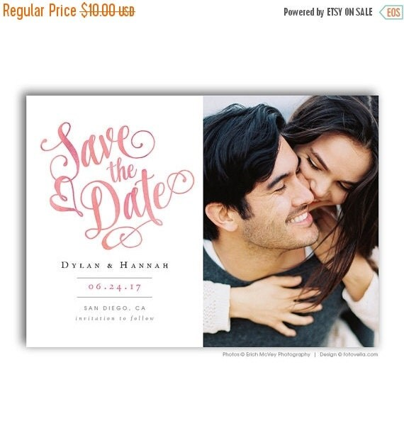 SALE Save The Date Template 5x7 Photo Card Photoshop By