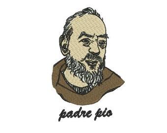 Padre Pio embroidery design