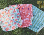 One-Size Organic Wool Wrap Diaper Cover  (BIRCHES)