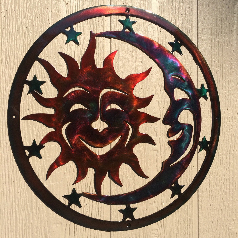Sun Moon Amp Stars Celestial Indoor Or Outdoor Plasma Cut