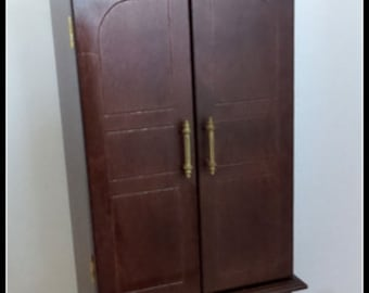 Vintage Wood Doll Size Armoire