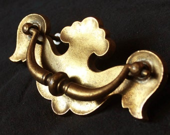 "5 available Vintage ""KBC"" Solid Brass Drawer Pull"