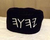 Paleo Name of the Father 100% Linen Black Turban Cap Migba'ah for Men