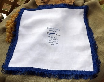 I will redeem you 100% White Linen with Embroidery and Matching Tassel Trim