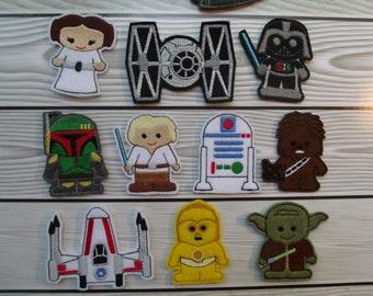 Star Wars Finger Puppet Set with FREE storage bag