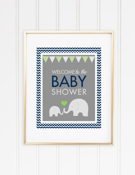 elephant welcome sign baby shower welcome sign boy baby shower