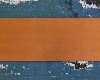 "Copper Bracelet Stamping Blank - Metal Stamping Blank - 24 Gauge -  2"" x 6"" - Pack of 1 - Jewelry Stamping Blank - SGMET-510.62"
