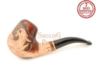 "Tobacco Smoking Pipe ""EVIL DRAGON"". Smoking Pipe. Wooden smoking pipe. Handmade, Handcarved, Tobacco pipes"