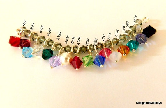 Gems, birthstones, birth crystals, Add on's for necklaces, bracelets, earrings