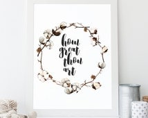 INSTANT DOWNLOAD - How Great Thou Art - Printable Christian Art - DIY Printable - Print and Frame - Typographic Print