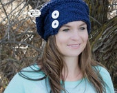 KNIT PATTERN - Slouchy Cabled Beanie Pattern, Winter Pattern, Hand Knit Beanie Pattern, Slouchy Beanie, Beanie, Pattern, Knit Pattern