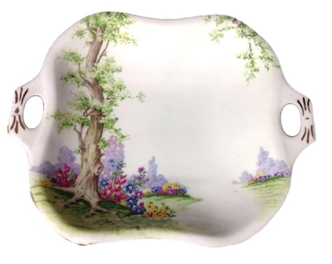Royal Albert Greenwood Tree English Bone China Candy Dish Sweets Server, Mid Century, Vintage Dish, Gift For Her, Gift For Christmas