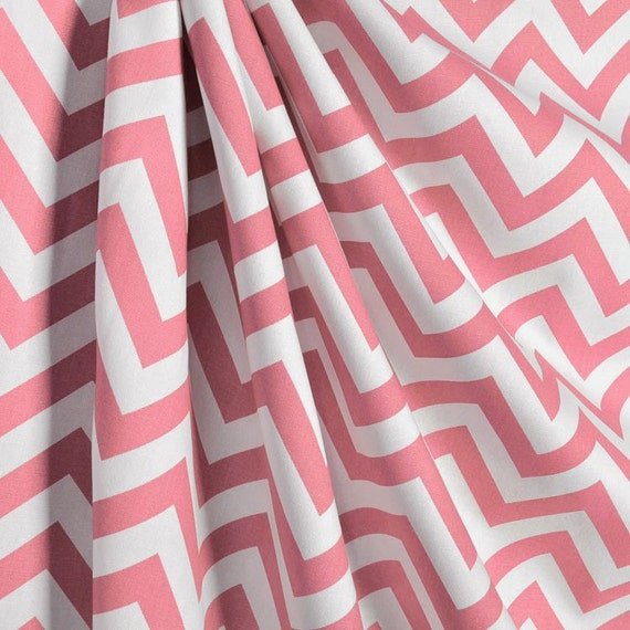 Pink and white chevron curtains