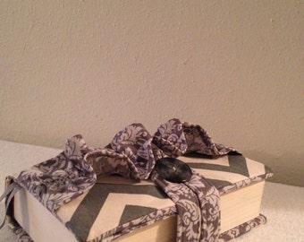 Beautiful Chevron/Damask  Bible Cover with Ruffles