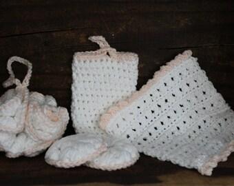 Ladies spa set, hand crochet