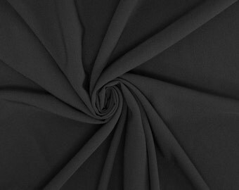 Black Crepe Fabric - 1 Yard Style 482