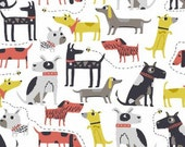 Makower Patch Dogs Cotton fabric