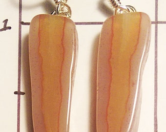 Earrings, Agate