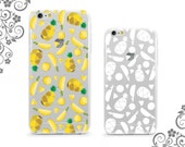 iPhone and Galaxy Soft TPU Phone Case Back Cover Protection Summer Aloha Pineapple UV0323
