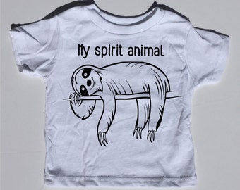 Sloth, spirit animal, baby bodysuit, toddler tee shirt, graphic tee, funny baby shirt