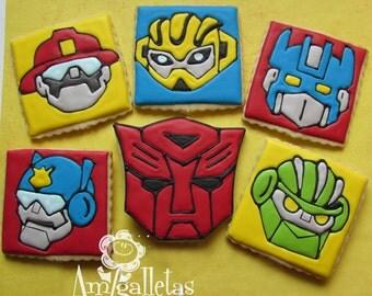 Transformers Cookies (Rescue Bots) - 1 dozen