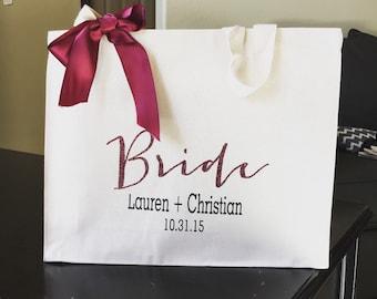 Bridesmaid gift,  bridesmaid tote