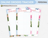 Personal Filofax Personal Inserts, Online Order Tracker, Budget Printable Planner, Finance Planner Printable, Financial, Shopping List